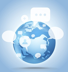 Abstract global communication scheme on Earth vector image