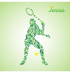 Abstract tennis player kicking the ball vector image