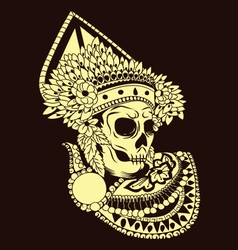 Baris Skull Balinese Dances vector image