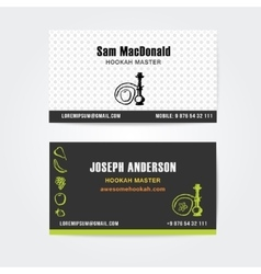 Business card design template of hookah vector image vector image