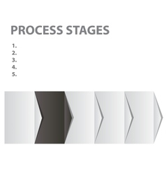 concept of business process stages vector image