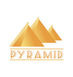 egyptian pyramids logotype vector image vector image