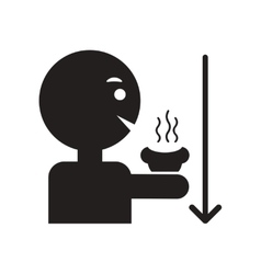 flat icon in black and white style man drinking vector image vector image