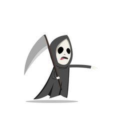 grim reaper with scythe in flat style vector image vector image