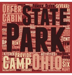 Ohio State Parks text background wordcloud concept vector image