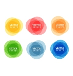 Set of colorful round abstract banners Graphic vector image vector image