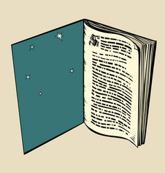 the book is an open window in a dream vector image vector image