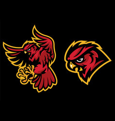 angry owl mascot with sport mascot style vector image vector image