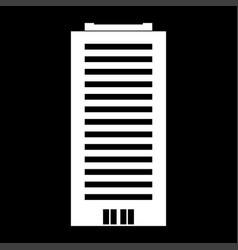 Building white color icon vector