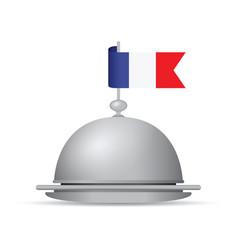 french flag dinner platter vector image