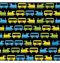 Silhouette train 2 vector image