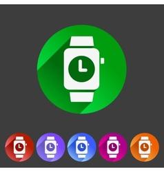 Watch icon sign symbol logo label set vector image