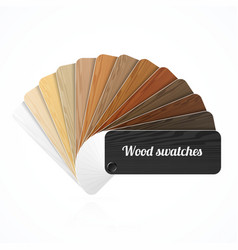 Wood color swatches guide samples fan vector image