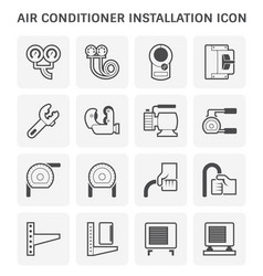 air conditioner tool vector image