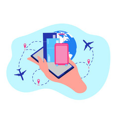 Airline company online services concept vector
