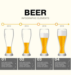 Beer infographic elements timeline vector