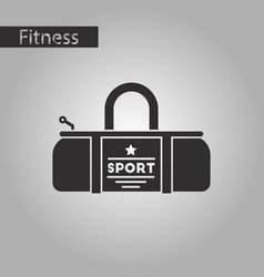 black and white style icon sports bag vector image