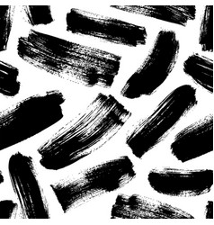 Black brushstrokes hand drawn seamless pattern vector