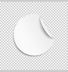 blank sticker empty promotional label white vector image