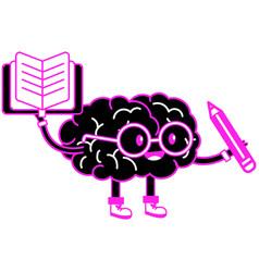 Brain cartoon design vector