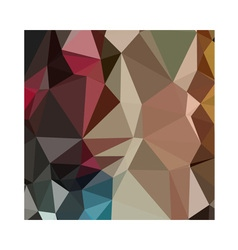 Butterscotch brown abstract low polygon background vector