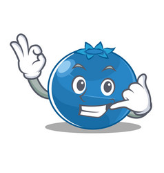 Call me blueberry character cartoon style vector