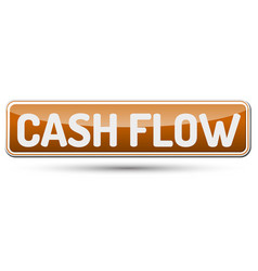 Cash flow - abstract beautiful button with text vector