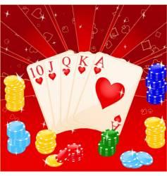 Casino elements vector