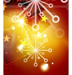Christmas orange abstract background with white vector image