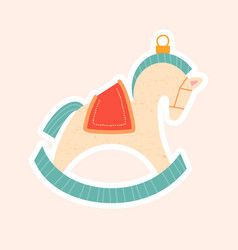 Christmas tree decoration a rocking horse vector