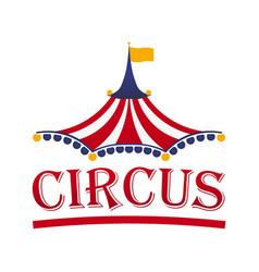 Circus tent logo template vector