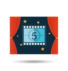 Concept cinema theater strip counting graphic vector