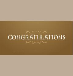 congratulaions premium classic logo congrats vector image