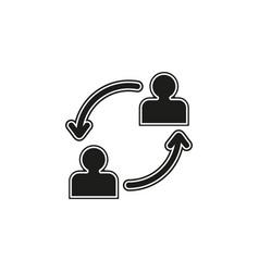 conversation icon - communication icon vector image