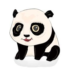 Cute panda panda baby vector