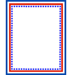 decorative american patriotic red blue border vector image