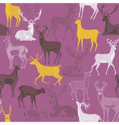 Deer craft wallpaper vector