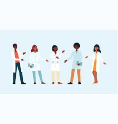 doctors weared gown in hospital or medicine forum vector image