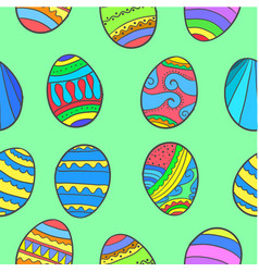 Doodle of easter egg various vector