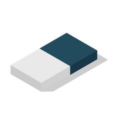 Double part school eraser icon isometric style vector