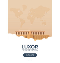 egypt luxor time to travel travel poster vector image