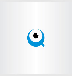 eye logo letter q icon symbol vector image