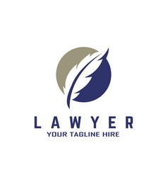 Feather lawyer logo concept vector