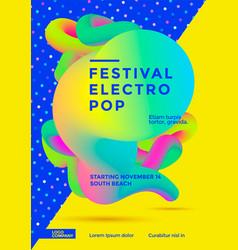 Festival electro pop vector