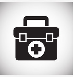 first aid bag icon on white background for graphic vector image