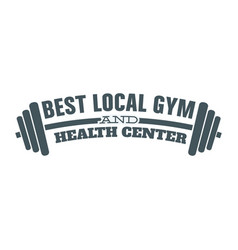 Fitness health center image vector