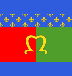 flag of meaux in seine-et-marne france vector image