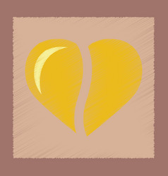 Flat shading style icon coffee heart vector