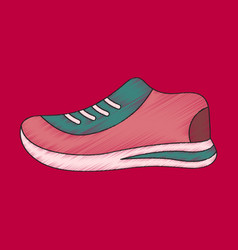 Flat shading style icon sports shoes vector