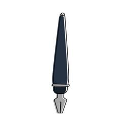 fountain pen writing icon image vector image